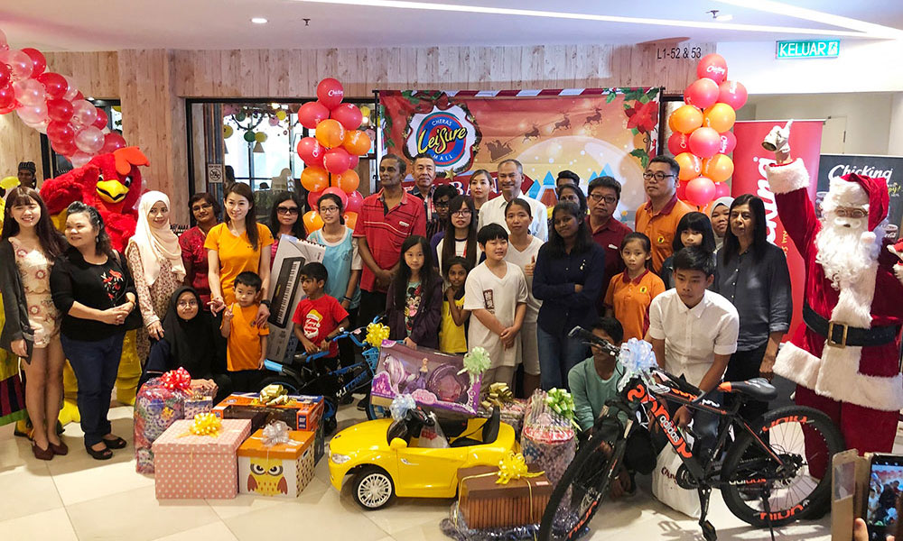 Gift Presentation To Children And Caretakers