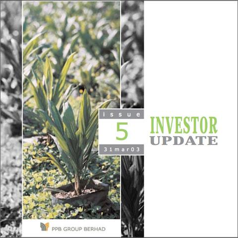 2003 Investor Update 1st Qtr